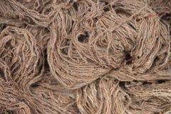 Jutefaser-Seil, Werkzeug f?r das Binden, Nahaufnahme lizenzfreie stockfotos