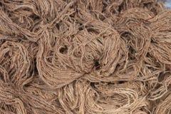 Jutefaser-Seil, Werkzeug f?r das Binden, Tapete stockbild