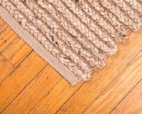 Jutowa palowa ręka wyplatający dywanik Obrazy Royalty Free