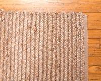 Jutowa palowa ręka wyplatający dywanik Obraz Stock