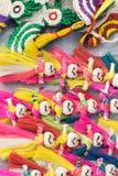 Jutowe lale, rękodzieło rzeczy na pokazie, Kolkata Obraz Royalty Free