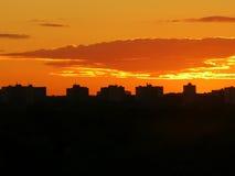 jutrzenkowa linia horyzontu zdjęcia stock