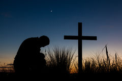 Jutrzenkowa modlitwa zdjęcie stock