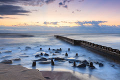 Jutrzenkowego oceanu krajobrazu Zewnętrzni banki Pólnocna Karolina Zdjęcie Stock