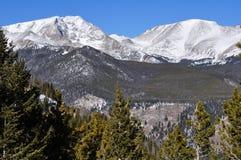 jutrzenkowej lekkiej halnego szczytu fotografii purpurowy śnieżny brać Fotografia Royalty Free