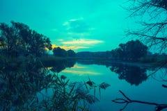 jutrzenkowy jezioro Zdjęcia Stock