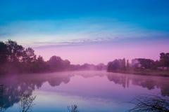 jutrzenkowy jezioro Zdjęcie Royalty Free