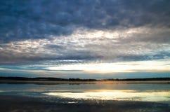jutrzenkowy jezioro Obrazy Stock