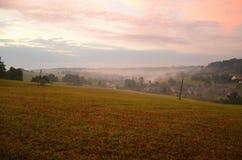 Jutrzenkowy krajobraz Zdjęcia Stock