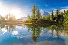 Jutrzenkowy krajobraz Włoscy dolomity Obraz Royalty Free