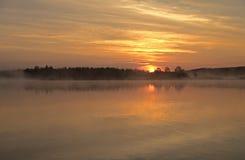jutrzenkowy mglisty Zdjęcia Stock