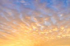 Jutrzenkowy niebo zdjęcia stock