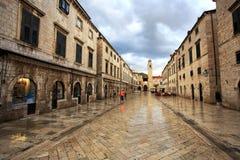Jutrzenkowy pracownik - Dubrovnik zdjęcia stock
