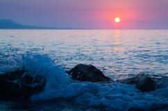 Jutrzenkowy widok morze Obrazy Royalty Free