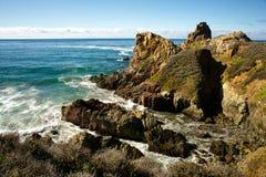 Jutting in Pacifico Fotografia Stock Libera da Diritti