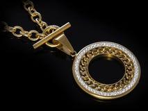 Juvel - lyxig halsband för kvinnor arkivbild