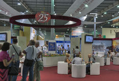 Juvelerareexpoutställning 2013 i Kiev Royaltyfri Foto