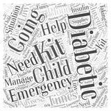 Juvenil Diabetic& x27; conceito da nuvem da palavra do jogo da emergência de s ilustração stock