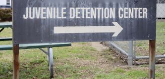 Juvenile Detention Center. Houses Juvenile offenders whom have broken the law or underage minors who are awaiting a trial and may be sentenced to jail or royalty free stock photo