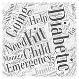 Juvenile Diabetic's Emergency Kit word cloud concept. A Juvenile Diabetic's Emergency Kit Stock Illustration