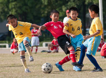 Juvenile football Stock Photos