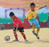 Juvenile football Royalty Free Stock Photos