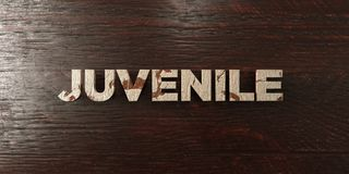 Juvenile - grungy wooden headline on Maple  - 3D rendered royalty free stock image. This image can be used for an online website banner ad or a print postcard Stock Images