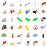Juvenile icons set, isometric style. Juvenile icons set. Isometric set of 36 juvenile vector icons for web isolated on white background Royalty Free Stock Images