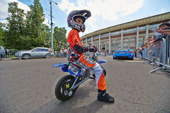 Juvenile participant of Speedfest at Luzhniki Royalty Free Stock Images