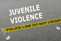 Juvenile Violence concept Stock Images