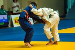 Juventud de la competencia del judo Imagen de archivo
