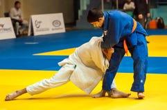 Juventud de la competencia del judo Fotos de archivo libres de regalías