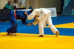 Juventud de la competencia del judo Foto de archivo