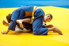Juventud de la competencia del judo Fotos de archivo