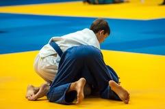 Juventud de la competencia del judo Fotografía de archivo