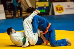Juventud de la competencia del judo Fotografía de archivo libre de regalías