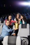 Juventud en el cine Imágenes de archivo libres de regalías
