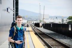Juventud que viaja - Anaheim, CA Fotografía de archivo