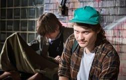 Juventud sin hogar frustrada Fotos de archivo libres de regalías
