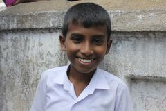 Juventude cingalesa feliz Foto de Stock