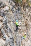 Juventude latino-americano Team Climbers Imagem de Stock