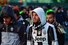 Juventus fans after Champions League Final Stock Images