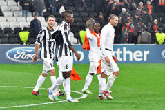 Juventus football players leave the field Royalty Free Stock Photography
