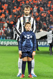 Juventus footballer with boy Stock Photography