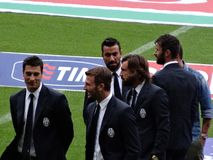 Juventus Players in Suits Royalty Free Stock Images