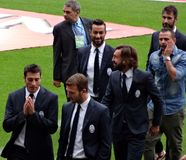 Juventus Players in Suits Stock Photography