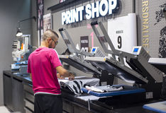 In Juventus Shop Stock Images
