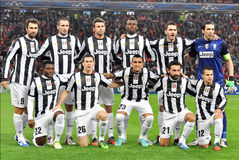 Juventus-Team herein voll Stockfotos