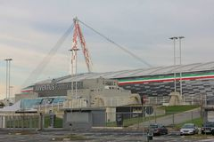 Juventusstadion stock foto