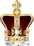 juvlar för illustration för coronationkrona engelska royaltyfri illustrationer